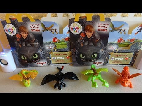 Coll. 1: 2014 McDonald's Poland How To Train Your Dragon 2 Movie Happy Meal Toys Unboxing