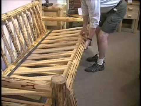 Misty Mountain Furniture Log Sofa Futon Youtube