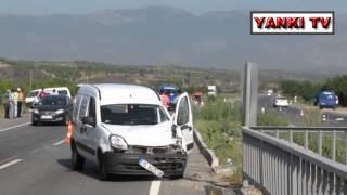 Turgutlu'da trafik kazası :1 ölü 1 yaralı