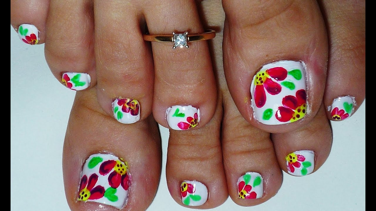 Pink Amp Black Toe Nail Design Youtube Nail Art Design Ideas