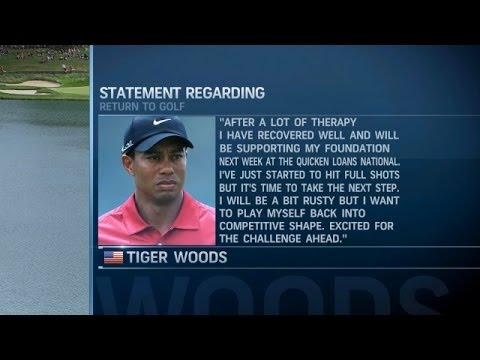 Tiger Woods announcing to 2014 season