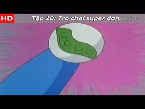 Doremon tiếng việt tập 10: Kế hoạch thoát khỏi nhà cao tầng - Trò choi super dan - HTV3