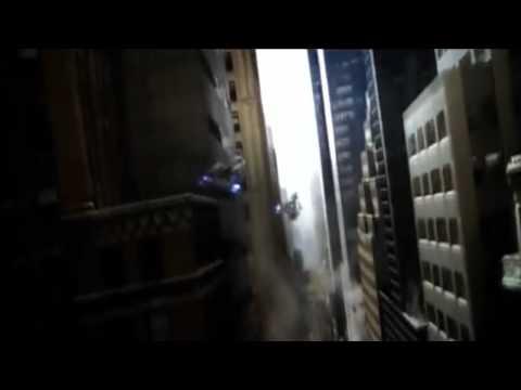Black Widow (Natasha Romanoff) Rides A Chitauri Aircraft