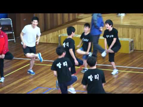 Korean school sports day 'Chicken Fight'