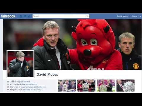 Here's David Moyes' Fakebook Look Back Movie