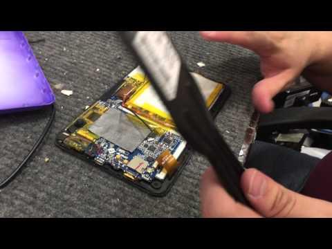 iView tablet repair - Change battery