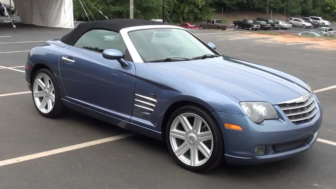 For sale 2005 chrysler crossfire limited convertible stk
