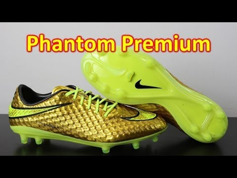 Neymar Nike Hypervenom Phantom Premium Metallic Gold Coin/Volt - Unboxing + On Feet