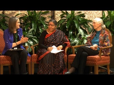 Vandana Shiva & Jane Goodall on Serving the Earth & How Women Can Address Climate Crisis (1 of 2)