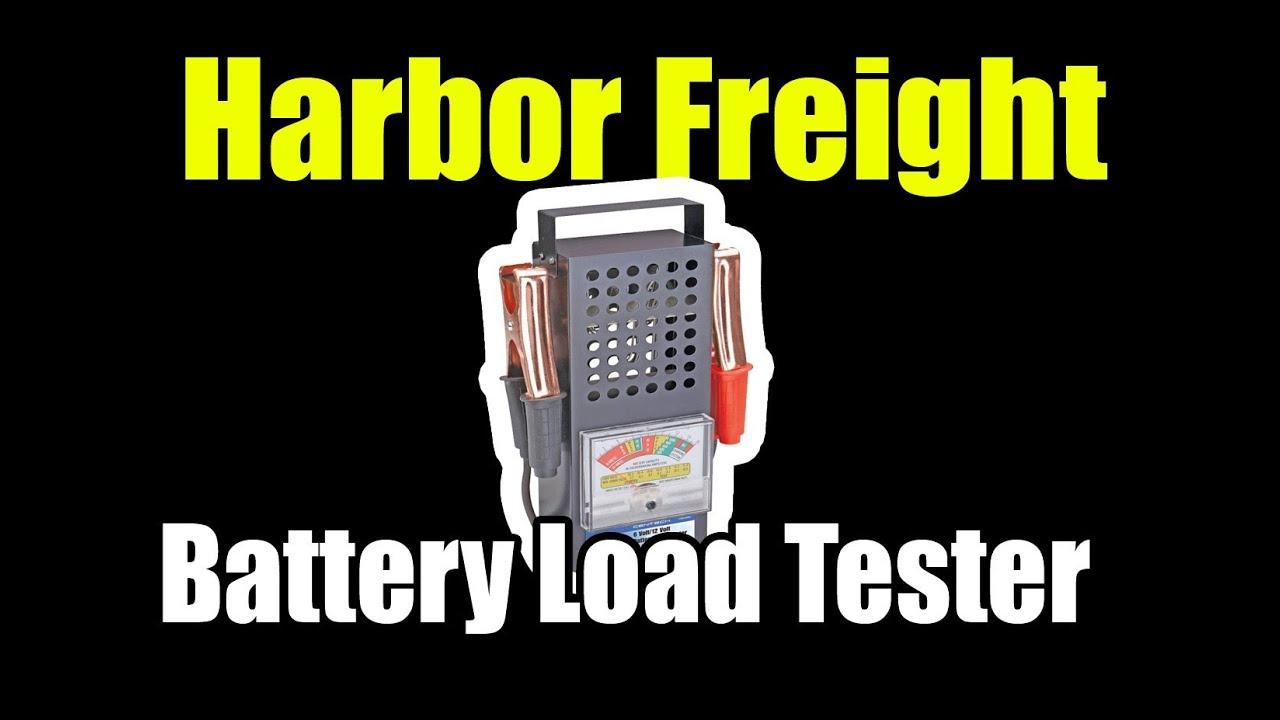 Harbor Freight Battery Tester : Harbor freight amp battery load tester youtube