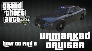 GTA V How To Find A Unmarked Police Cruiser