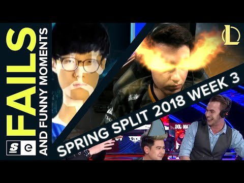 Best LoL Fails from Week 3 of the 2018 Spring Split (NA LCS, EU LCS, LPL and LCK)