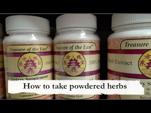 How to take powdered herbs