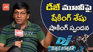 Shaking Seshu comments on DJ Duvvada Jagannadham film crit..