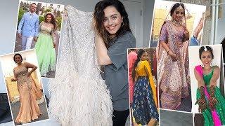 MY DESTINATION INDIAN WEDDING OUTFITS   Ekta Solanki, Aastha Narang, Este Couture, House of Masaba
