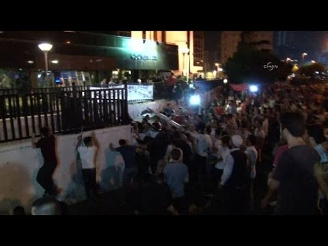 Turkish protesters target Israeli embassy and consulate