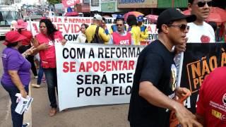 Greve geral tem início com marcha contra a reforma da previdência - Secretaria de imprensa