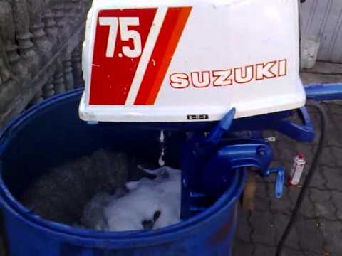Suzuki 7 5 Hp Outboard Motor 2 Stroke Dwusuw Youtube