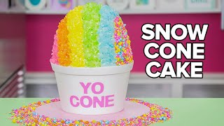 GIANT SNOW CONE CAKE!! | How To Cake It