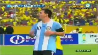 ECUADOR VS ARGENTINA ELIMINATORIAS 2014 RESUMEN DEL
