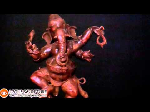 Brass Dancing Ganesh Statue,  Metal Ganapathi Sculpture