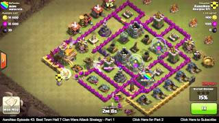 BEST Town Hall Level 7 (TH7) Clan Wars Attack Strategy