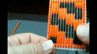 Lesson #6 How To Make An Algerian Filling Stitch.wmv