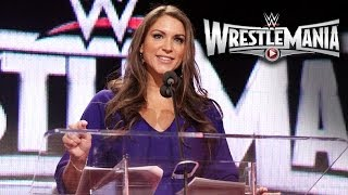 WWE Chief Brand Officer Stephanie McMahon speaks at the WrestleMania 31 Press Conference