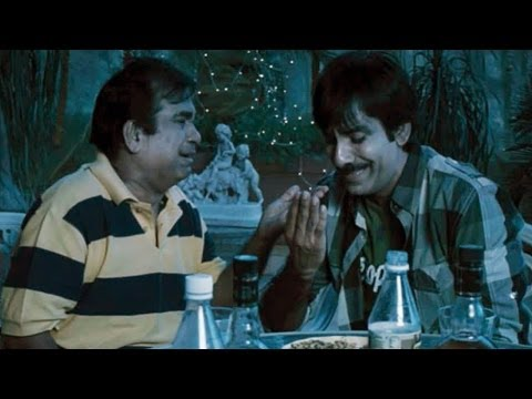 Nippu Comedy Scenes - Ravi Teja Beating To Brahmanandam ( Night Dinner)