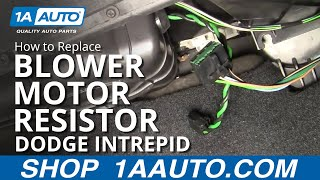 How To Install Repair Replace AC Heater Blower Fan Speed