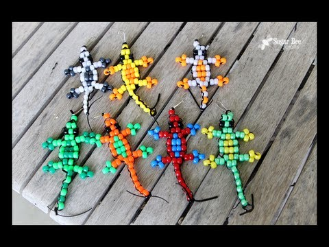 Pony bead lizard tutorial youtube for Fun crafts for kids ages 8 12