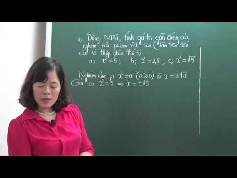 Căn bậc hai, căn bậc ba - Toán 9 - Cô Bùi Thanh Bình [HOCMAI]