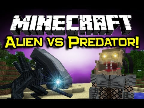 Minecraft - ALIEN VS PREDATOR MOD Spotlight! - Get Yo Sci Fi On! (Minecraft Mod Showcase)