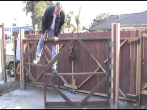 Damn hot Homemade fence swinger