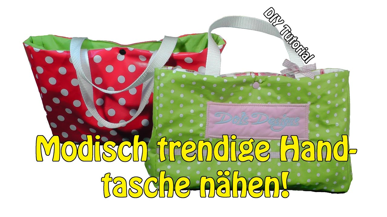 diy modisch trendige kleine handtasche selber n hen n hen f r anf nger tutorial youtube. Black Bedroom Furniture Sets. Home Design Ideas