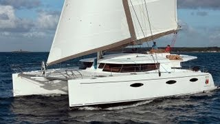 BVI Sailing Vacations On Catamaran FLOW. Sailing