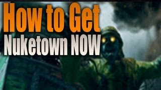 How To Get Nuketown Zombies Black Ops 2 (Call Of Duty BO2)