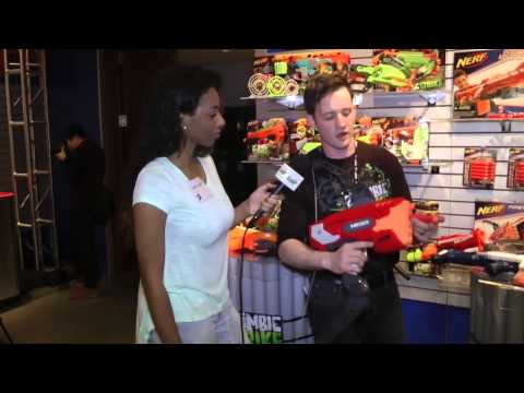 Introducing NERF's new Camera Blasting Gun at Toy Fair 2014!