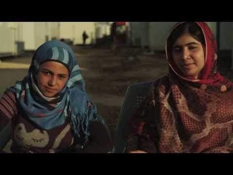 Malala's plea for Syrian refugees