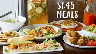 What You Can Cook For The Price of One Coffee A Day   $1.45 Meals