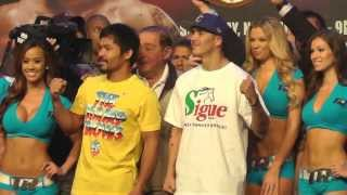 Manny Pacquiao Vs Brandon Rios Fight Weigh-in 11/23