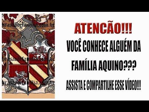 Brasão da Família Aquino - www.brasaodefamilia.com.br