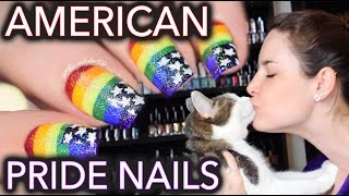 American pride nails & MY GAY KITTEN