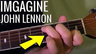 EASY! IMAGINE JOHN LENNON How To Play Guitar Lesson