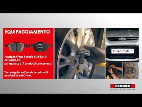 Test comparativo sulle pastiglie freni per auto Ferodo