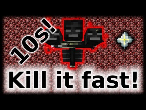 How to kill a wither in 10 seconds (fast, easy, safe)