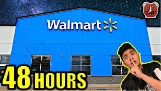 48 HOUR OVERNIGHT CHALLENGE IN WALMART!!! (PART 1)