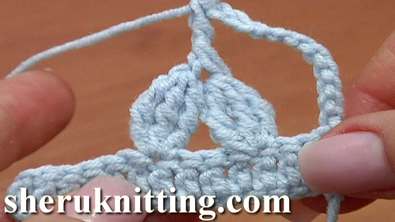 Two 3-Double Treble Crochet Clusters Together Treble Post Above ...