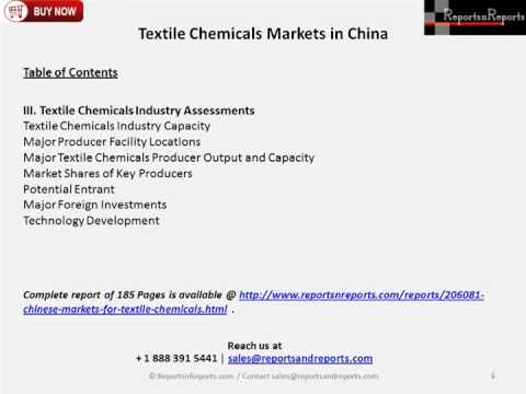 China Textile Chemical Market Research Report 2014-2023
