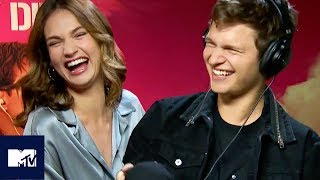 BABY DRIVER | Ansel Elgort And Lily James Play The Whisper Challenge | MTV Movies